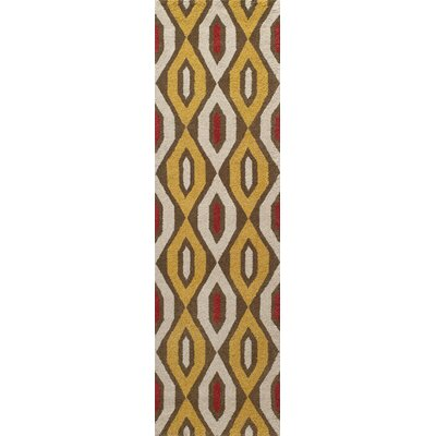 Elvera Hand-Tufted Gold/Yellow Area Rug Rug Size: Runner 23 x 8