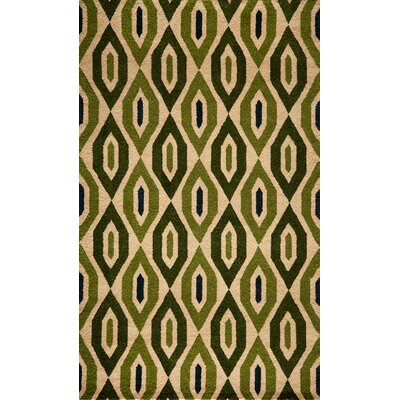 Elvera Hand-Tufted Green Area Rug Rug Size: Rectangle 2 x 3