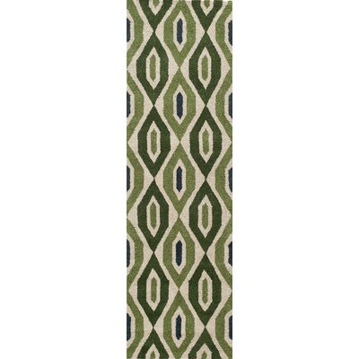 Elvera Hand-Tufted Green Area Rug Rug Size: Runner 23 x 8