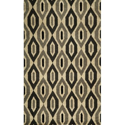 Elvera Hand-Tufted Black/Gray Area Rug Rug Size: 36 x 56