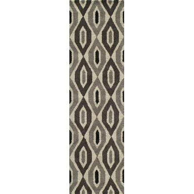 Elvera Hand-Tufted Black/Gray Area Rug Rug Size: Runner 23 x 8