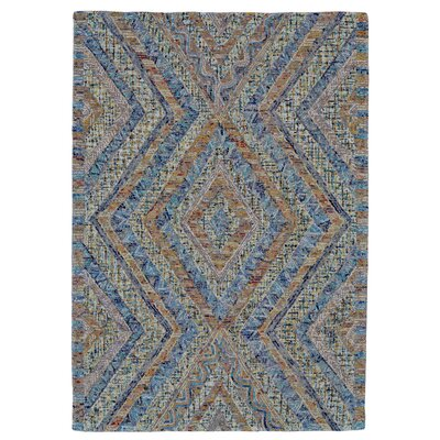 Haeli Hand-Tufted Blue/Gray Area Rug Rug Size: 5 x 8