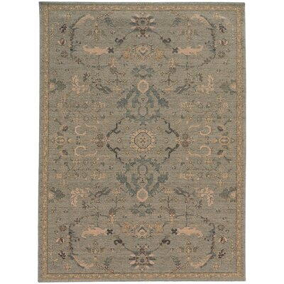 Rubbermaid Beige/Blue Area Rug Rug Size: 110 x 33