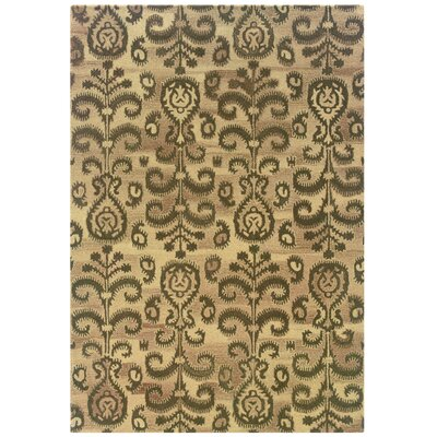 Rosen Hand-Woven Oriental Beige Area Rug Rug Size: Rectangle 36 x 56