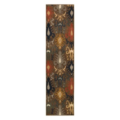 Johan Brown/Gray Area Rug Rug Size: Runner 110 x 76