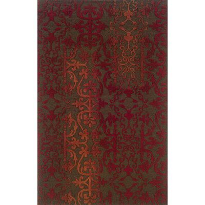 Volkswagen Brown/Red Area Rug Rug Size: Rectangle 8 x 10