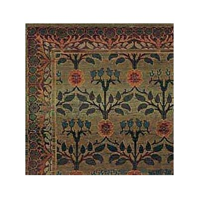 Rosabel Floral Green/Brown Area Rug Rug Size: Round 8