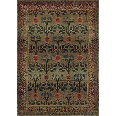 Rosabel Floral Green/Brown Area Rug Rug Size: Round 6