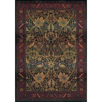 Rosabel Floral Red/Blue Area Rug Rug Size: Rectangle 53 x 76