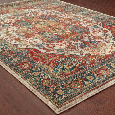 Knox Red Area Rug Rug Size: Rectangle 67 x 96