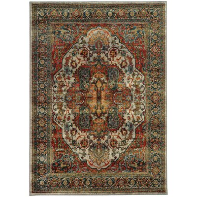 Knox Red Area Rug Rug Size: 53 x 76