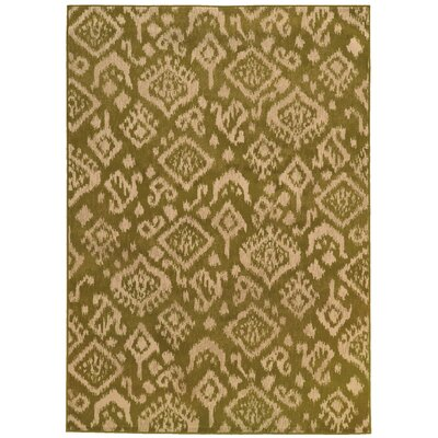 Sonora Green/Beige Area Rug Rug Size: Rectangle 53 x 73