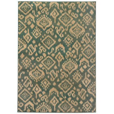 Sonora Blue/Beige Area Rug Rug Size: Rectangle 53 x 73