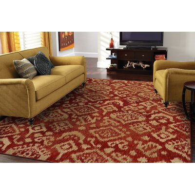 Sonora Red/Beige Area Rug Rug Size: Rectangle 33 x 55