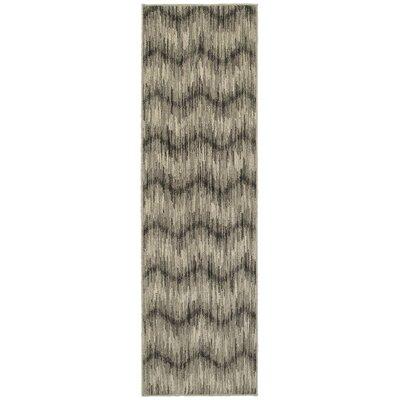 Petrina Gray/Ivory Area Rug Rug Size: Runner 23 x 76