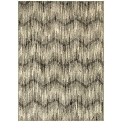 Petrina Gray/Ivory Area Rug Rug Size: Rectangle 910 x 1210