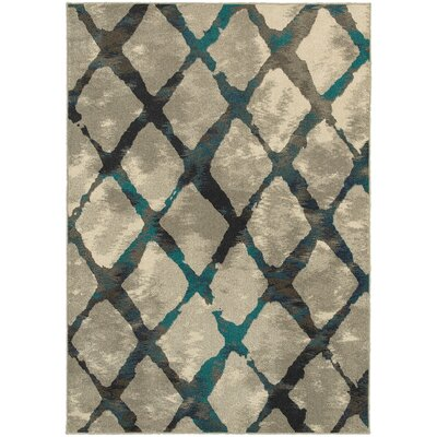 Petrina Gray/Blue Area Rug Rug Size: Rectangle 710 x 1010