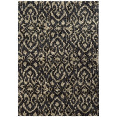 Nickolas Midnight/Beige Area Rug Rug Size: Rectangle 910 x 1210