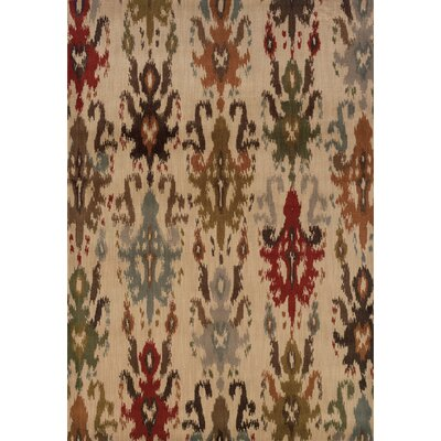 Solvang Ivory/Multi Area Rug Rug Size: Rectangle 67 x 96