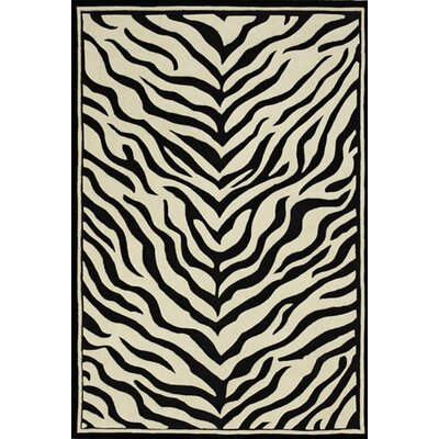 Solomon Black/Ivory Area Rug Rug Size: 5 x 8