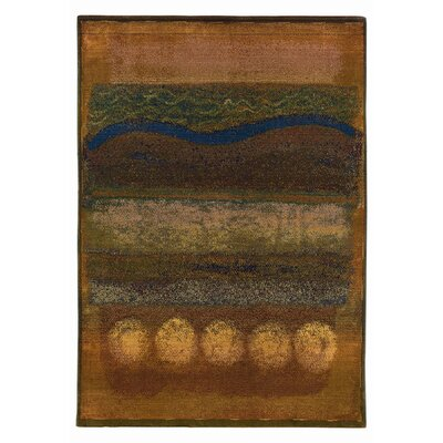 Nikolas Gold/Green Area Rug Rug Size: Runner 23 x 76