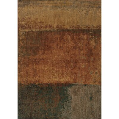 Johan Abstract Brown Area Rug Rug Size: 53 x 76