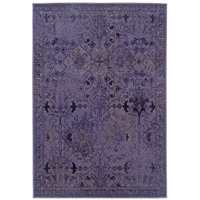 Davion Purple/Gray Area Rug Rug Size: 910 x 1210