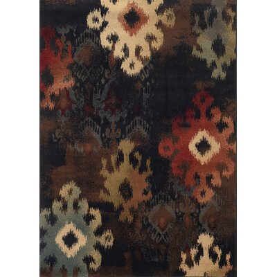Gary Black/Tan Area Rug Rug Size: 53 x 76