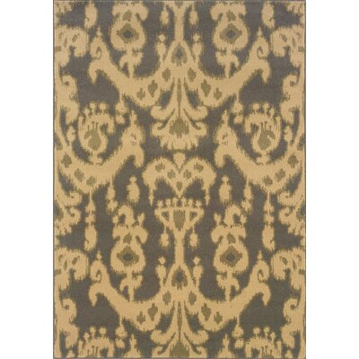 Pierce Beige/Gray Area Rug Rug Size: Runner 110 x 76
