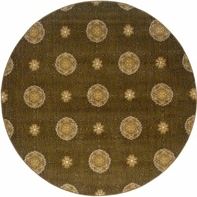 Sharyl Brown/Gold Area Rug Rug Size: Round 78