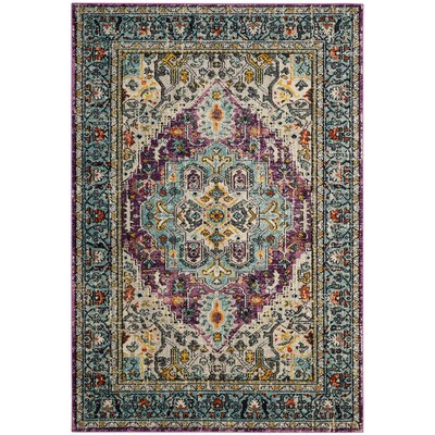 Rowan Violet/Light Blue Area Rug Rug Size: Square 67