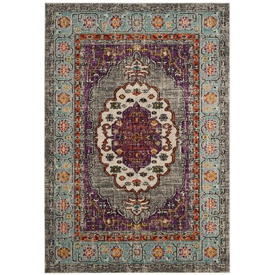 Monte Carlo Violet/Light Blue Area Rug Rug Size: Square 67