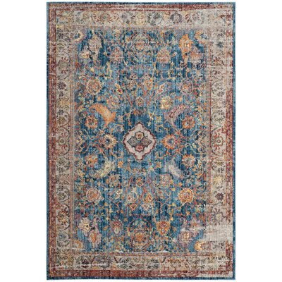 Amiens Blue Area Rug Rug Size: Rectangle 4 x 6