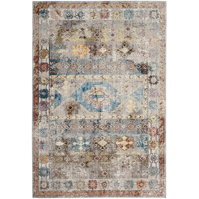 Skye Gray/Blue Area Rug Rug Size: Square 7