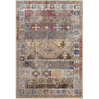 Skye Brown/Pink Area Rug Rug Size: 9 x 12
