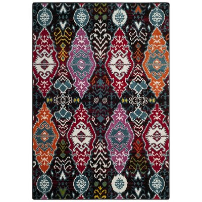 Marlow Black/Red Area Rug Rug Size: 51 x 76