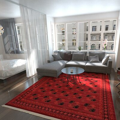 Kowloon Red Area Rug Rug Size: 9 x 12