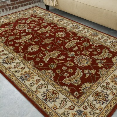 Keefer Red Area Rug Rug Size: Oval 6 x 9
