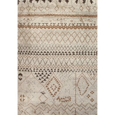Aiden Hand-Knotted Ivory Area Rug Rug Size: Rectangle 9 x 12