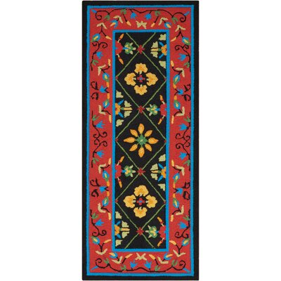 Tovar Hand-Tufted Red/Black Area Rug