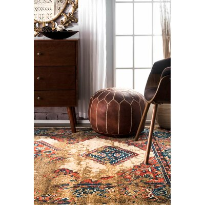 Kingston Beige Area Rug Rug Size: Rectangle 5 x 8