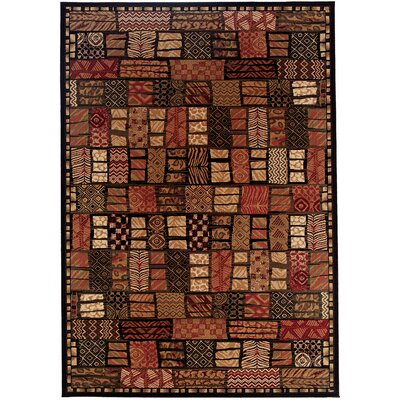 Amsbry Cairo/Midnight Area Rug Rug Size: Rectangle 53 x 76