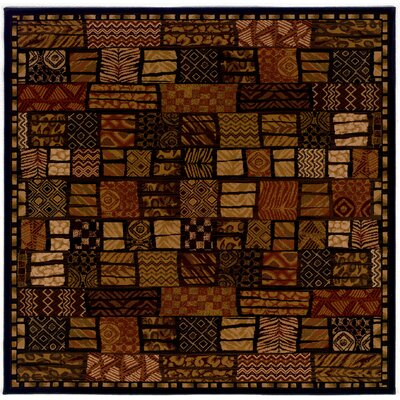 Amsbry Cairo/Midnight Area Rug Rug Size: Square 53