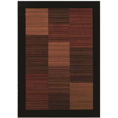 Amsbry Black/Brown Area Rug Rug Size: Runner 27 x 710