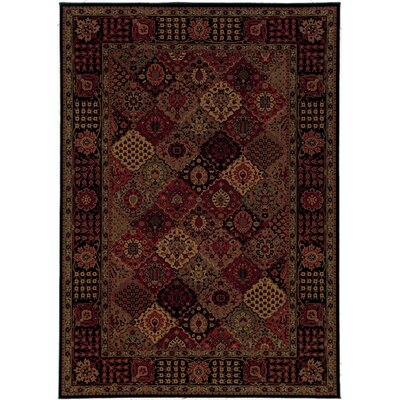 Amsbry Antique Baktiari/Midnight Area Rug Rug Size: 92 x 125