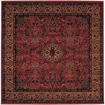 Amsbry Red/Gold Area Rug Rug Size: Square 311
