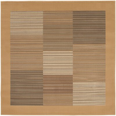 Judlaph Sahara Tan Geometric Area Rug Rug Size: Square 710