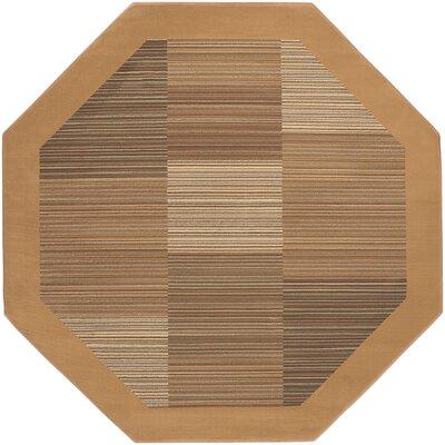 Judlaph Sahara Tan Geometric Area Rug Rug Size: Octagon 710