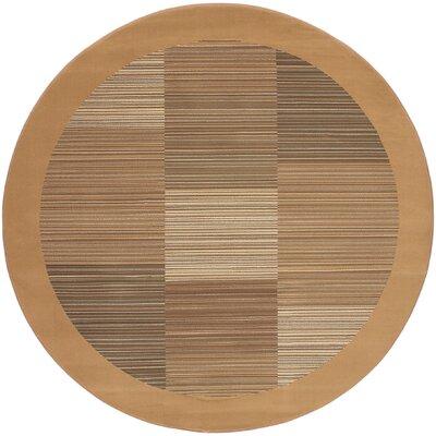 Judlaph Sahara Tan Geometric Area Rug Rug Size: Round 53