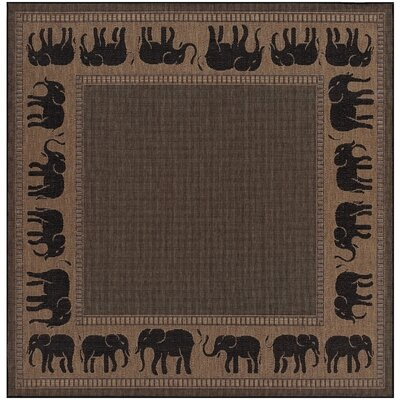 Sawtelle Black/Beige Indoor/Outdoor Area Rug Rug Size: Square 76